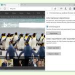 Edge: Verlauf und Kennwörter importieren