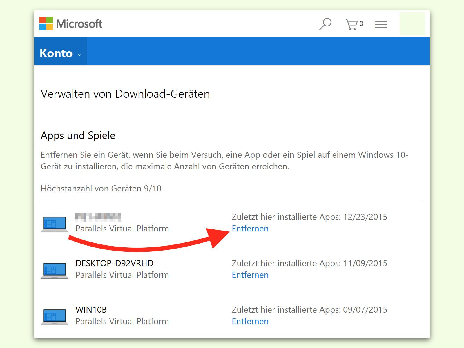 Microsoft Konto Entfernen