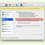 Info-Bereich von Windows am Mac steuern