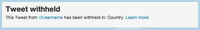 Twitter: Tweet withheld