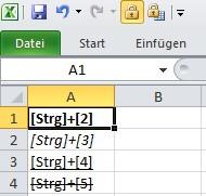 Excel: Fett oder kursiv formatieren