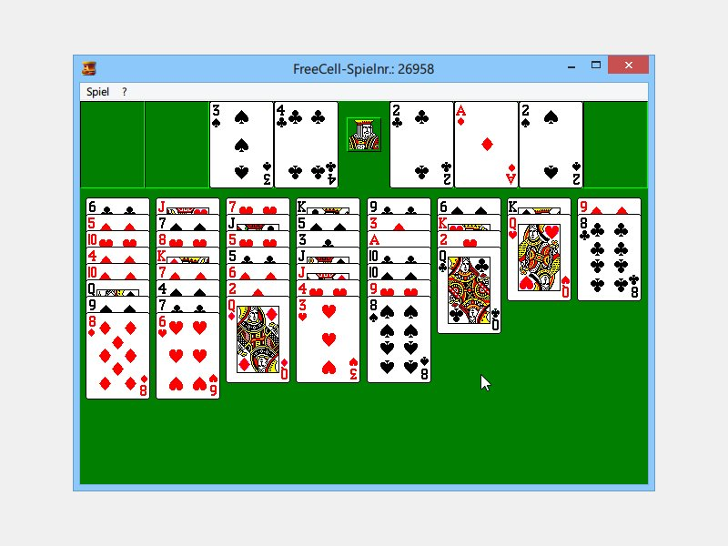 windows freecell spielen