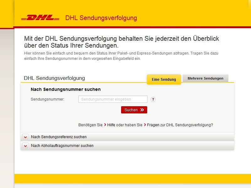einschreiben verfolgen dhl tracking support. Black Bedroom Furniture Sets. Home Design Ideas