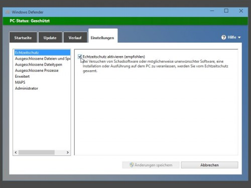 Windows  Build  Windows Defender Abschalten