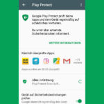 Google Play Protect auf Android Smartphones aktivieren